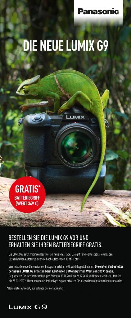 Panasonic Lumix G9 Aktion mit Batteriegriff kostenlos